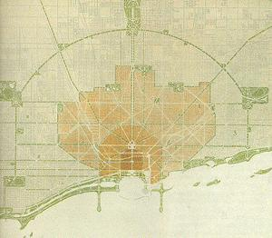 Daniel Burnham, 1909 Chicago Plan, from wikipedia.org