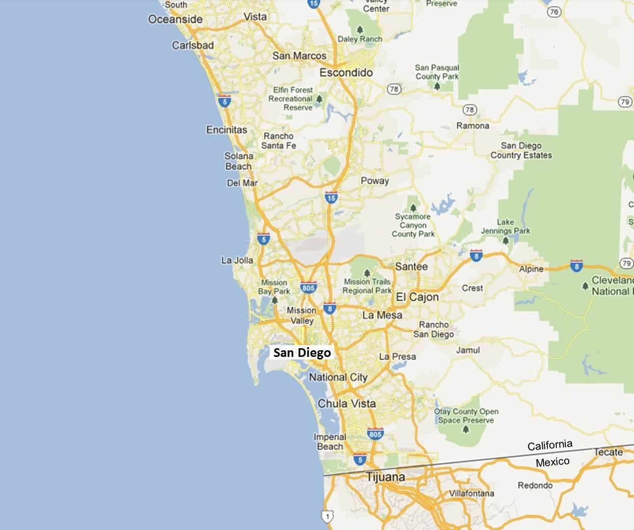 San Diego Google Map Missouri Map - Portugal map google